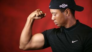 What, no Nike swoosh tattoo on the biceps Tiger?
