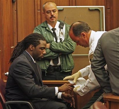 Stallworth in court on June 16, 2009