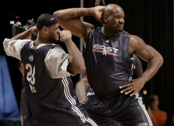 Shaq and LeBron will team up in Cleveland next year