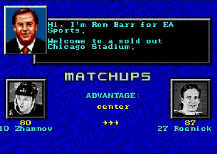 Video Game Roenick might be the G.O.A.T.