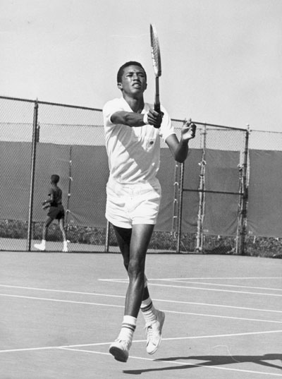 The iconic Arthur Ashe