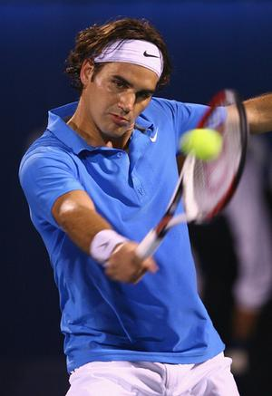 Roger Federer epitomizes the steely determination of today's tennis elite